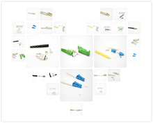 sc upc optic fiber connector/Low Price Fast Delivery High Quality LC Type SM DX Optical Fiber Connector with White Boot