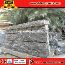 Natural Flamed Dark grey Granite panel wall stone,Dark greyGranite panel wall stone