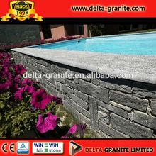 Natural Flamed Dark grey Granite panel wall cladding Dark grey Granite panel wall cladding