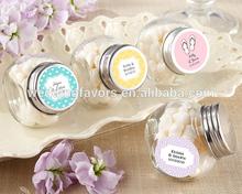Mini Glass Personalized Wedding Favor Jars