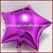 Five starts pink mini mylar stick balloons