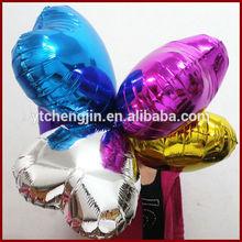 Heart shape self inflating mylar balloon