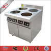 Yguang commercial 4 burner induction range used in coffee and restuarant