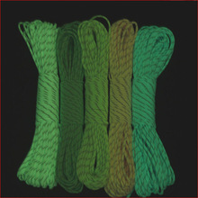 2014 good price fashion 550 paracord glowing in the dark
