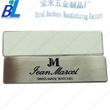 3Mself adhesive metal nameplates for brand swatches
