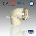 2014 de china de alta calidad de accesorios de cpvc accesoriosdetubería de plástico línea de producción de cpvc din montaje de rosca hembra codo 90
