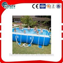 2014 hot sale outdoor rectangular metal frame pool/above ground swimming pool