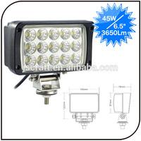 Warranty 2 year IP68 12V 24V Epistar high efficiency off road 45w led work light