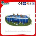 outdoor intex armação metálica playground natação piscina acima do solo