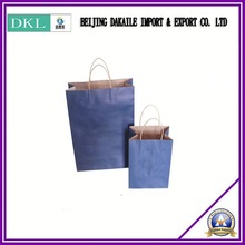 Custom made stand up sack kraft paper Carry bag With hadle shpoping bag green and enviromental bag