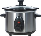 5.5QT 280W stainless steel slow cooker round sharp
