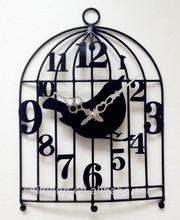Metal Birdcage decorative wall clock