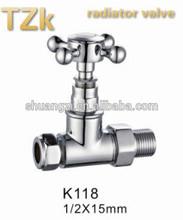 Traditional Straight Style K118 Brass Radiator Valve