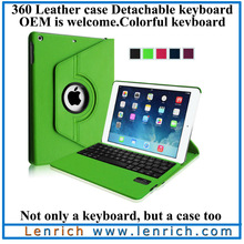 LBK135 New arrival For Ipad rotating Cover PC Case with Bluetooth keyboard Case for sale