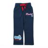 (B3386) navy Child garment ready made wear quality winter sports fleece pants