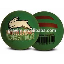 custom printed&color hi bouncing rubber ball