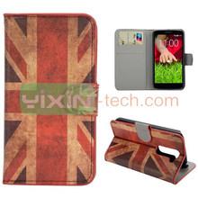 Fashion UK Flag pc leather case for lg g2 mini