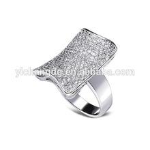 stainless steel fashion big stone men ring