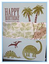Dinosaur design sample birthday invitation card