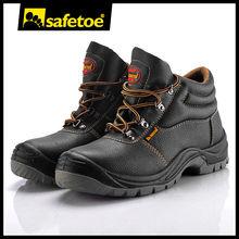 Black acid resistant safety shoes with kevlar Dubai M-8138