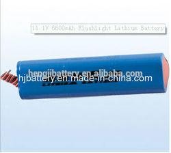 Flash light lithium battery11.1V6600mAh