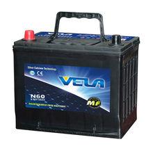 Promotion N50ZMF/MFN50Z car battery lead acid MF car battery 12V 60ah best price