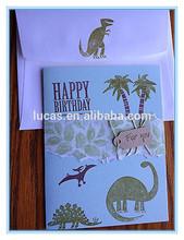 Dinosaur design handmade birthday invitation cards