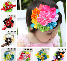 2014 new design Sunflower baby hair accessories girls headband in wholesale