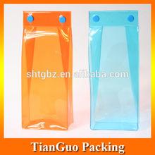 Plastic PVC Wine Bottle Bag