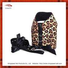 Leopard Print Dog Harness& Dog Lead Set