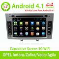 Lsq novo android puro 4.1 estéreo do carro para opel antara/zafira/veda/de agila/corsa/vectra com canbus/3g/wifi/rádio/dvd bt//gps/swc/mp4