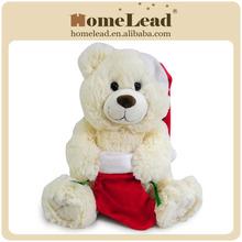 macio animal santa barato urso de pelúcia fábrica de china