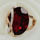 One big ruby imitation stone gold ring trend shape