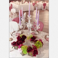 crystal crystal wedding candelabra with flower stand MH-1599