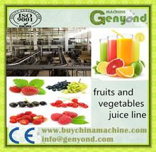 Complete fruit juice processing line, hot drink production line, juice filling machine