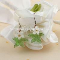Elegant Starfish Stone Earrings Fish Hook Jewelry