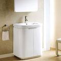 autoportant armoire de toilette blanc