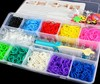 Hot Sale! Rainbow Loom Bands Box 2000pcs DIY Rubber Bracelets For Kids Toys