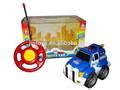 Brinquedos de plástico função 2 r/c carro de polícia com luz