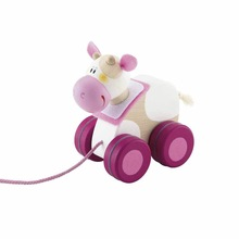 wooden pull cord toy