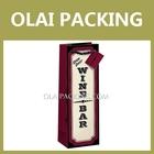 Supply packaging bag,wine paper bag ,top quality elegant paper bottle bag