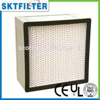 2014 alluminum frame h13Special design easy to clean high temperature resistant hepa filter