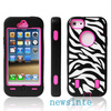 qi zebra-stripe case for iPhone 5C/5S/4S/S4