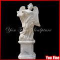 Gran jardín de piedra de tamaño natural de la estatua del ángel de mármol escultura del ángel