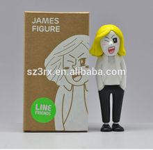 custom made James vinyl figure, OEM 3'' vinyl human figure,vinyl character from 3d movies