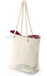 2014 canvas material, custom handled style bag