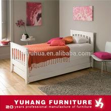 Blanco Color de un solo tamaño de madera maciza cama nido para adultos