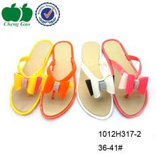 New design women thin flip flops wholesale eco-friendly pvc flip flops back strap