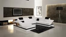 foshan shunde furniture,teak wood sofa,kuka sectional leather sofa C1158