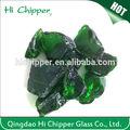 decorativo natural de color verde oscuro de color de cristal del bloque para el piso